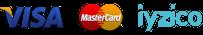 visa mastercard iyzico logoları